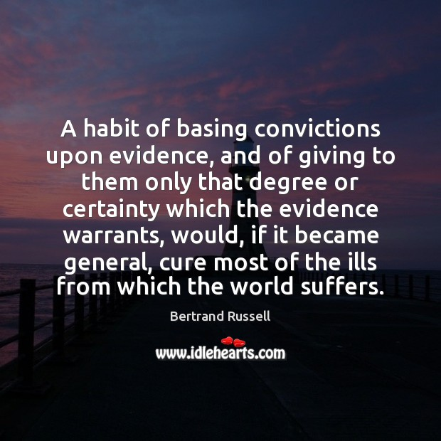 Image, A habit of basing convictions upon evidence, and of giving to them