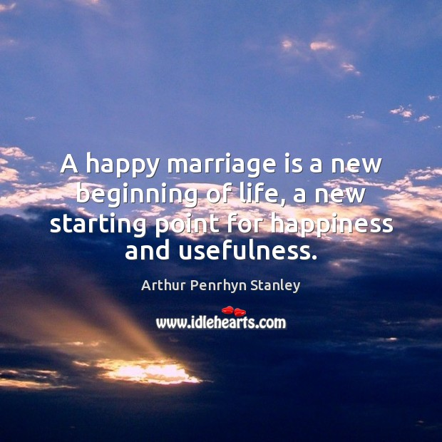 Image, A happy marriage is a new beginning of life, a new starting