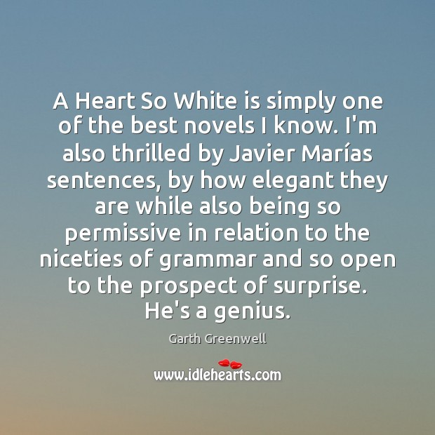 Image, A Heart So White is simply one of the best novels I
