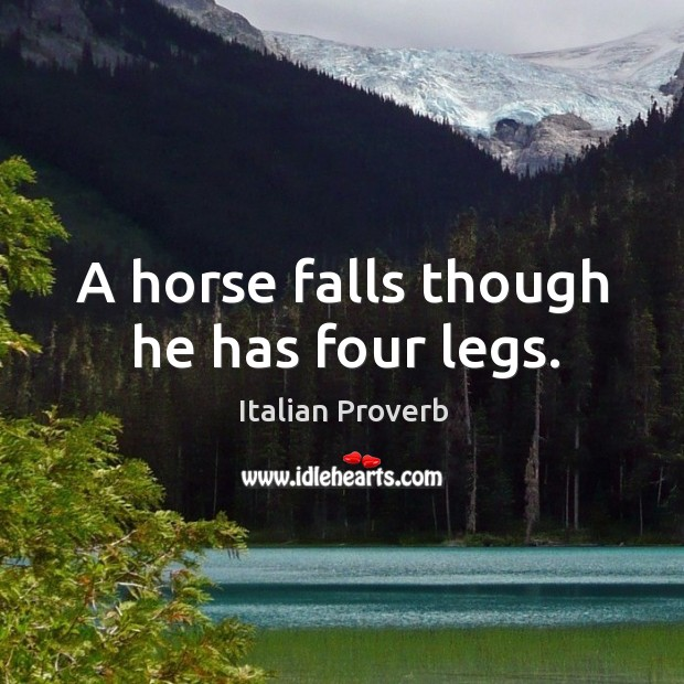 Image, A horse falls though he has four legs.