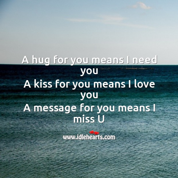 A hug for you means I need you Image