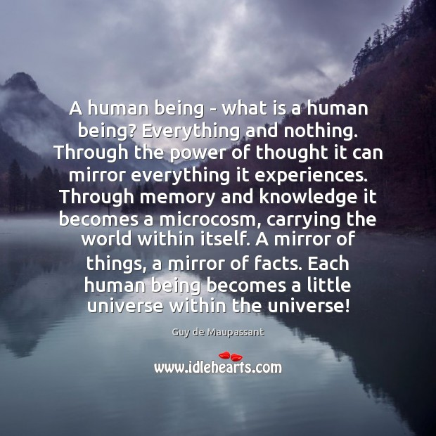 A human being – what is a human being? Everything and nothing. Image
