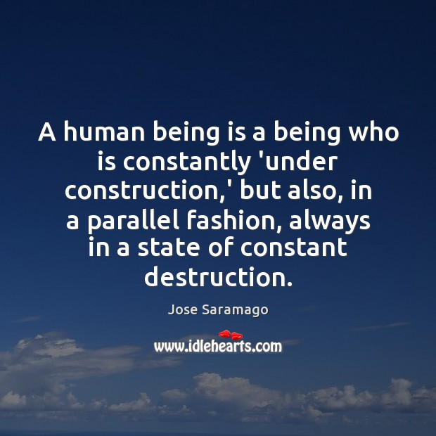 Image, A human being is a being who is constantly 'under construction,'