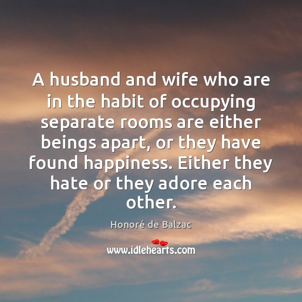 Image, A husband and wife who are in the habit of occupying separate