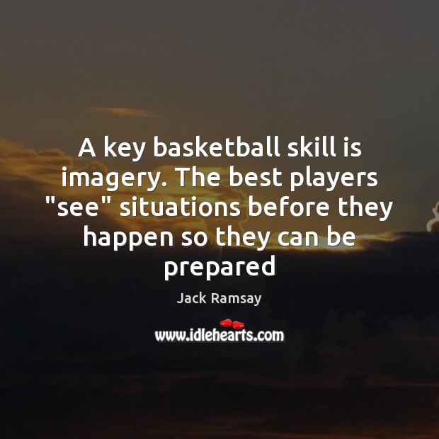"""Image, A key basketball skill is imagery. The best players """"see"""" situations before"""