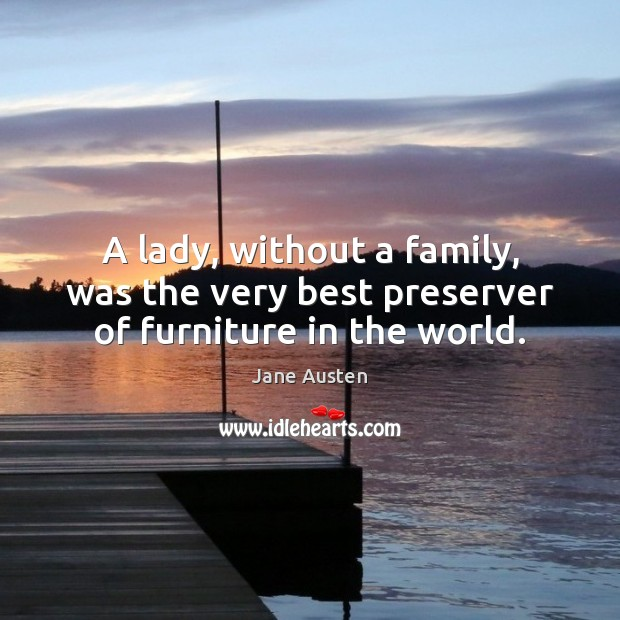 Image, A lady, without a family, was the very best preserver of furniture in the world.