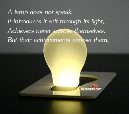 A Lamp Does Not Speak, It Introduces Itself Through Its…