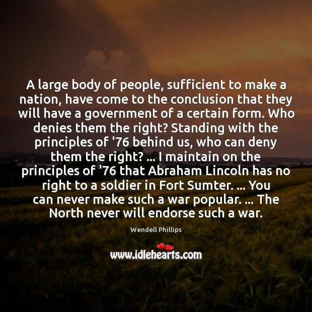 Image, A large body of people, sufficient to make a nation, have come