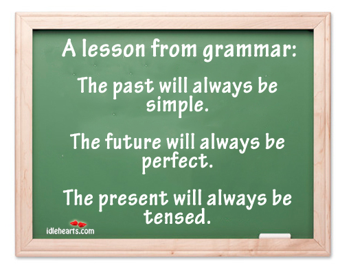 A lesson from grammar: Image