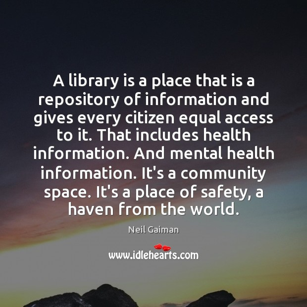 Image, A library is a place that is a repository of information and