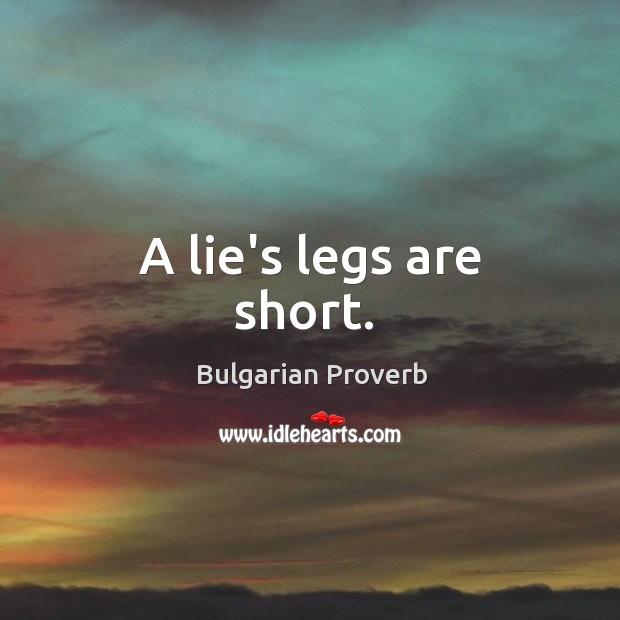 Image, A lie's legs are short.