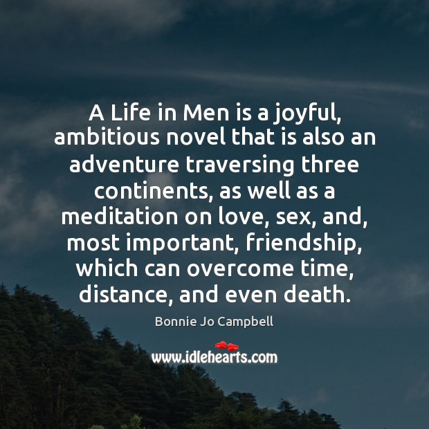 Image, A Life in Men is a joyful, ambitious novel that is also