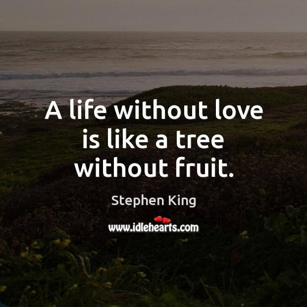 Image, A life without love is like a tree without fruit.