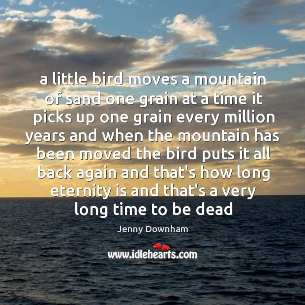 A little bird moves a mountain of sand one grain at a Jenny Downham Picture Quote