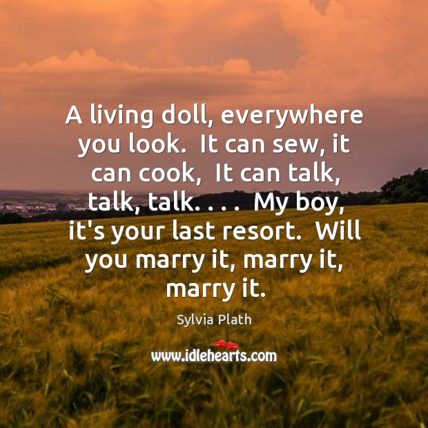 Image, A living doll, everywhere you look.  It can sew, it can cook,