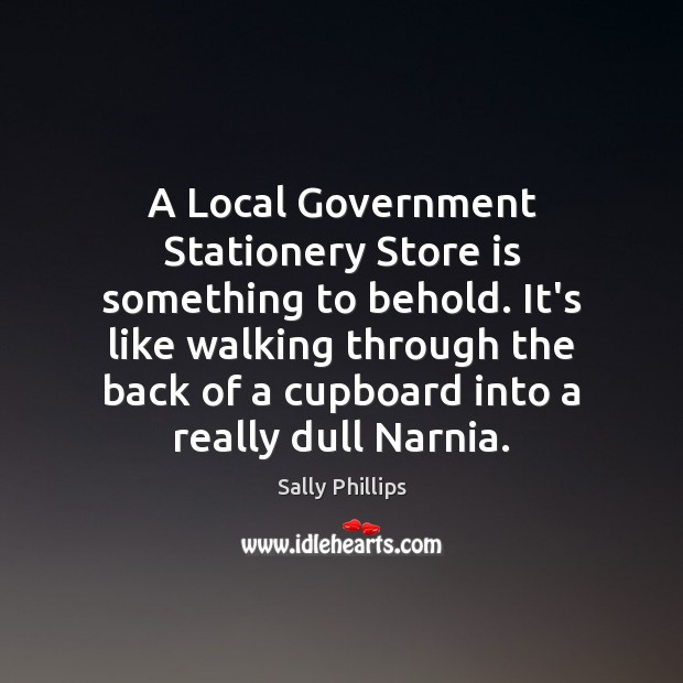 Image, A Local Government Stationery Store is something to behold. It's like walking