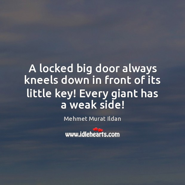 Image, A locked big door always kneels down in front of its little
