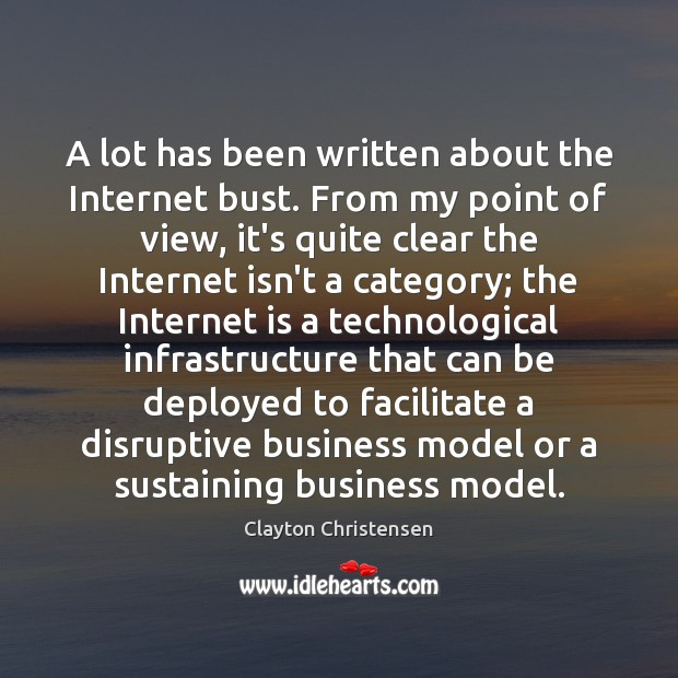 Image, A lot has been written about the Internet bust. From my point
