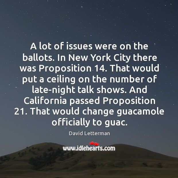 A lot of issues were on the ballots. In New York City Image