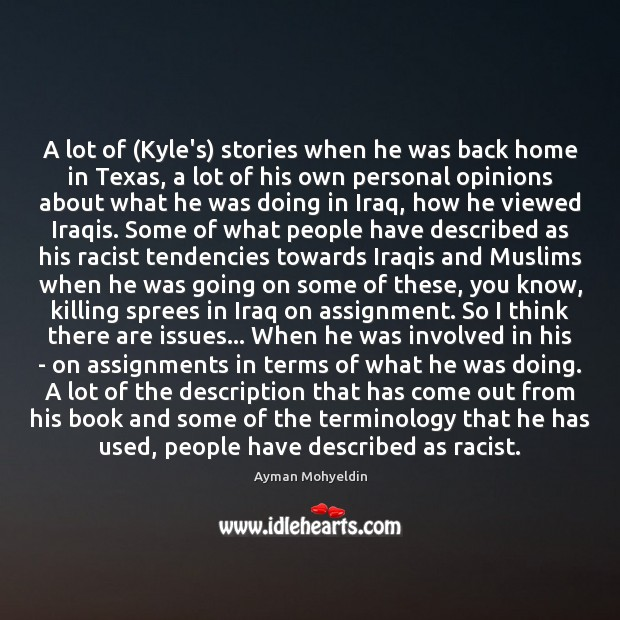 Image, A lot of (Kyle's) stories when he was back home in Texas,