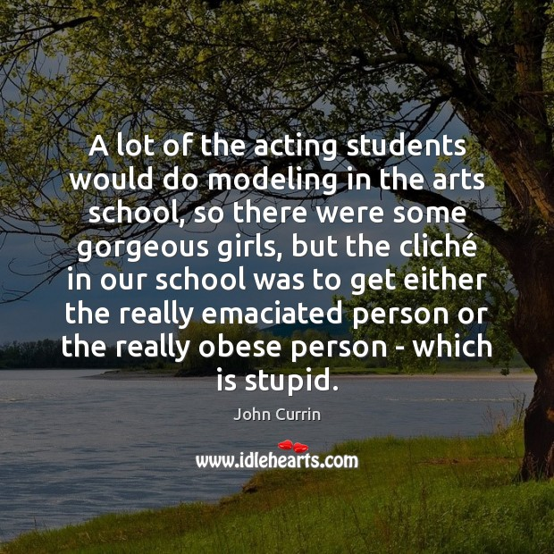 A lot of the acting students would do modeling in the arts Image