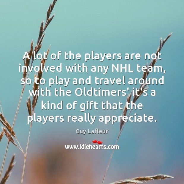 Image, A lot of the players are not involved with any NHL team,