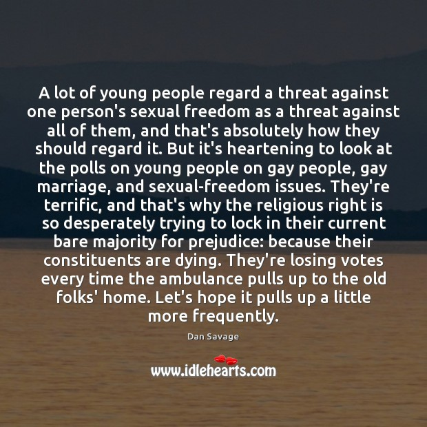A lot of young people regard a threat against one person's sexual Image