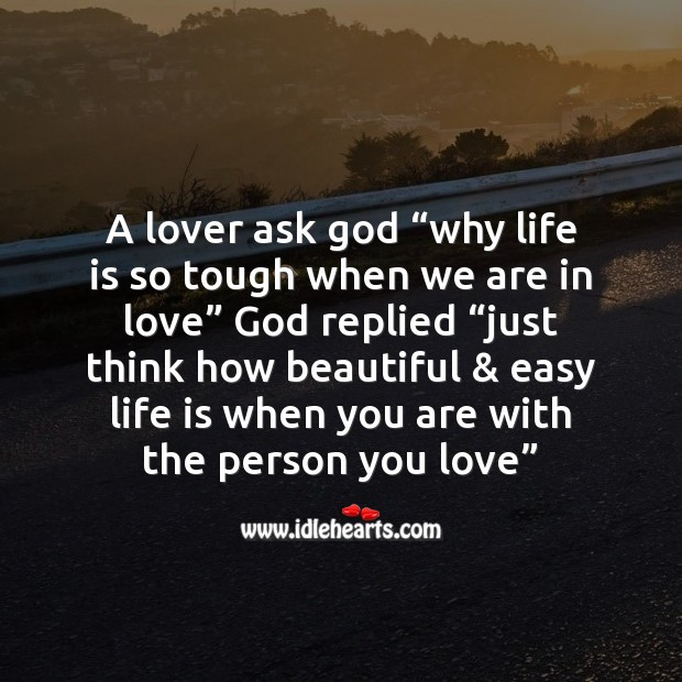 Image, A lover ask God