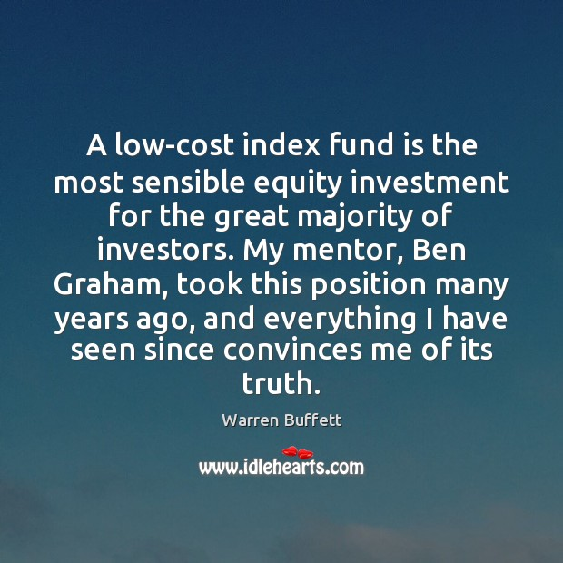 Image, A low-cost index fund is the most sensible equity investment for the