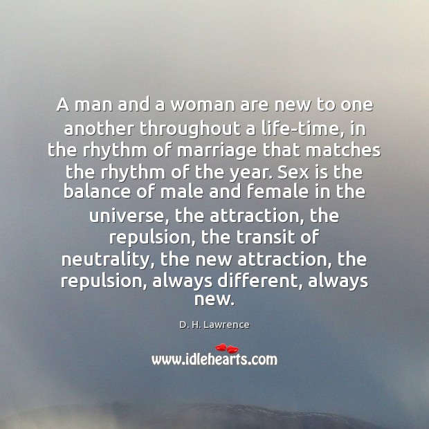 A man and a woman are new to one another throughout a Image