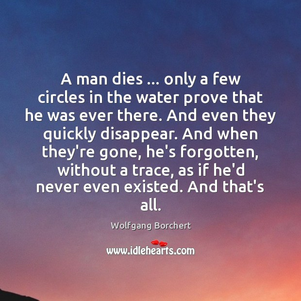 A man dies … only a few circles in the water prove that Image