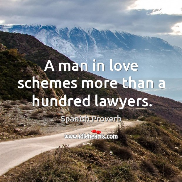 Image, A man in love schemes more than a hundred lawyers.