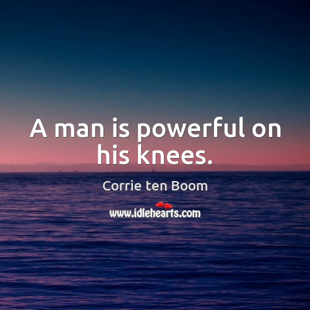 A man is powerful on his knees. Image