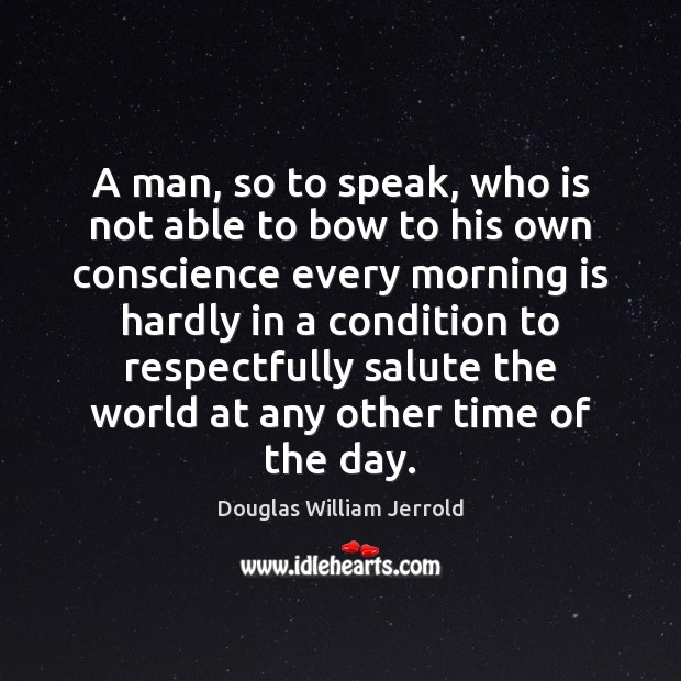 Image, A man, so to speak, who is not able to bow to
