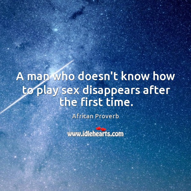 Image, A man who doesn't know how to play sex disappears after the first time.