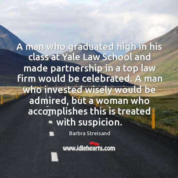 A man who graduated high in his class at yale law school and made partnership in a Image