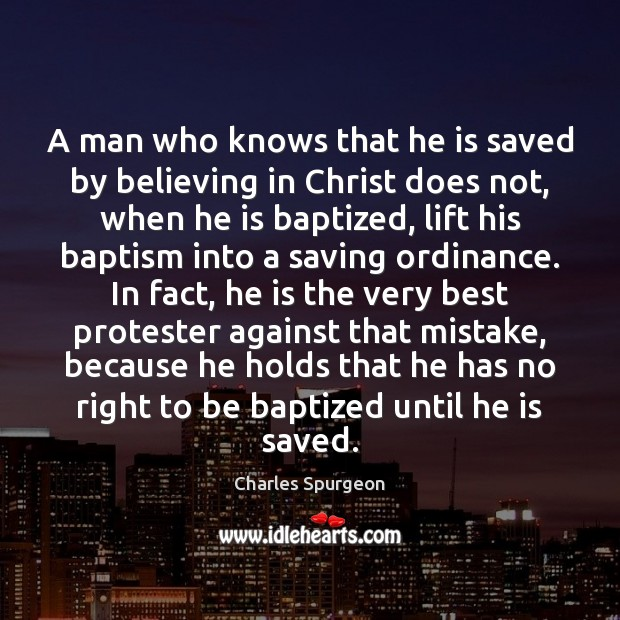 Image, A man who knows that he is saved by believing in Christ