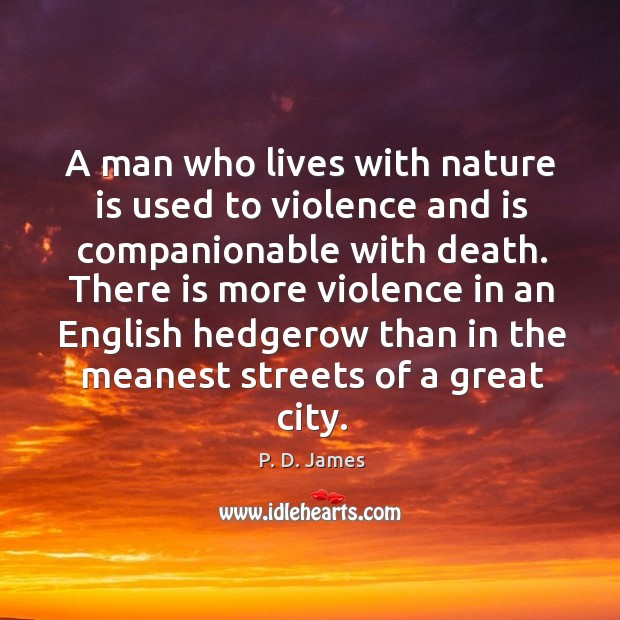 A man who lives with nature is used to violence and is Image