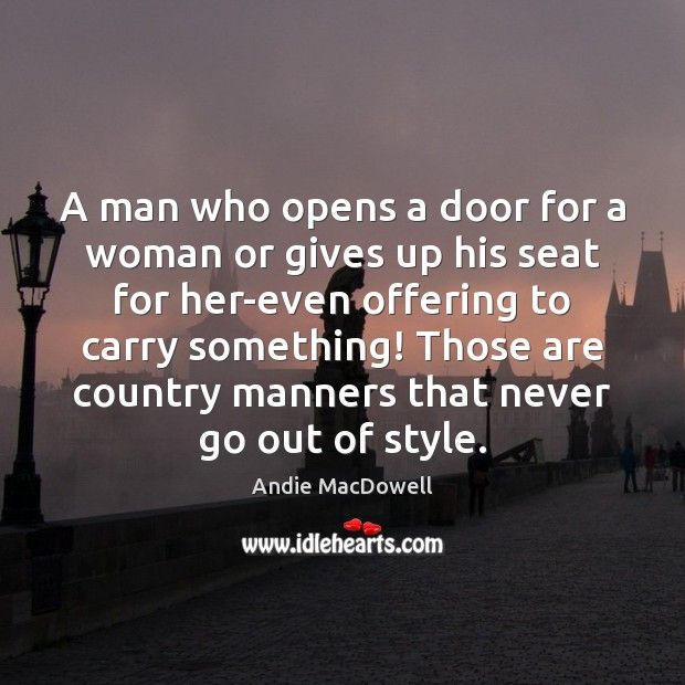 Image, A man who opens a door for a woman or gives up