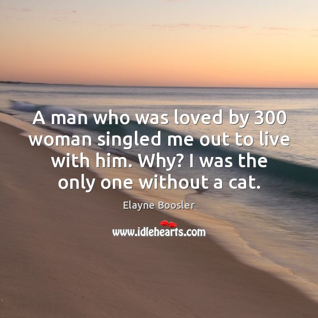 A man who was loved by 300 woman singled me out to live Image
