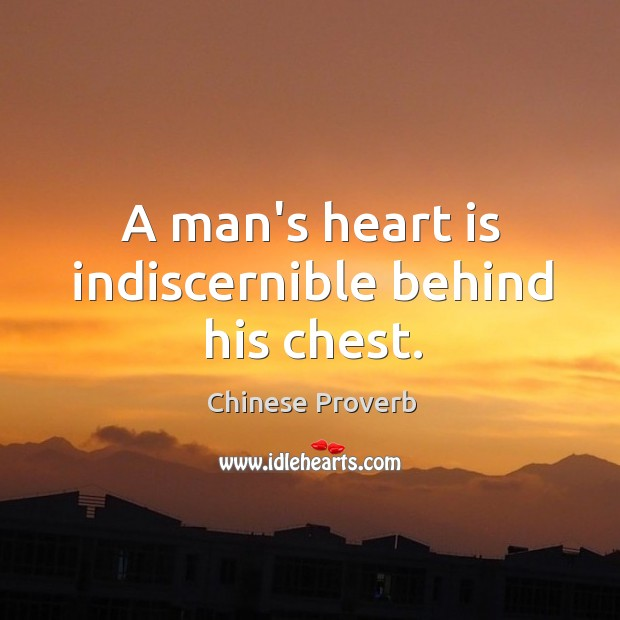 Image, A man's heart is indiscernible behind his chest.