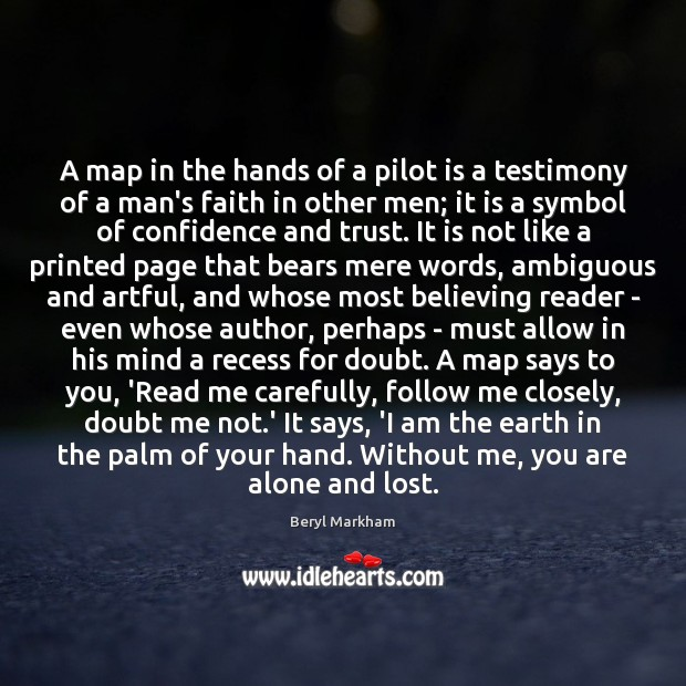 Image, A map in the hands of a pilot is a testimony of