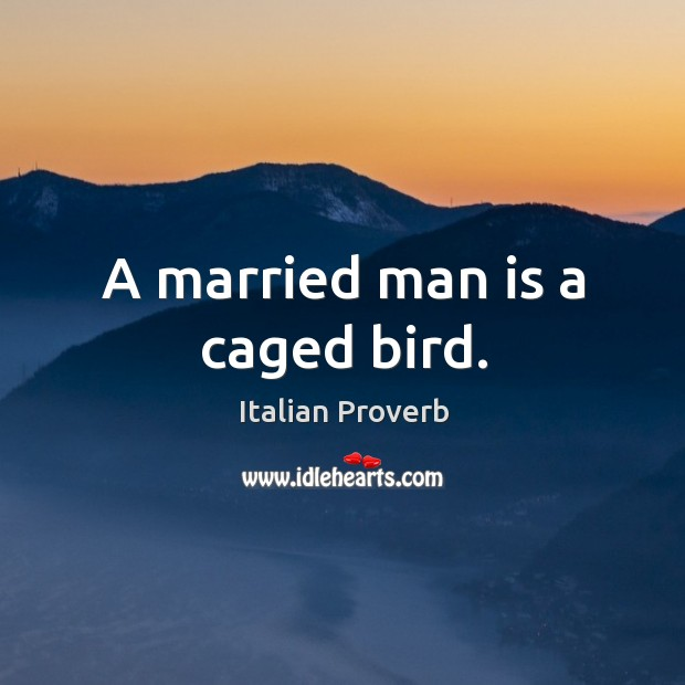 Image, A married man is a caged bird.