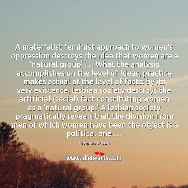 a mecry feminist approach