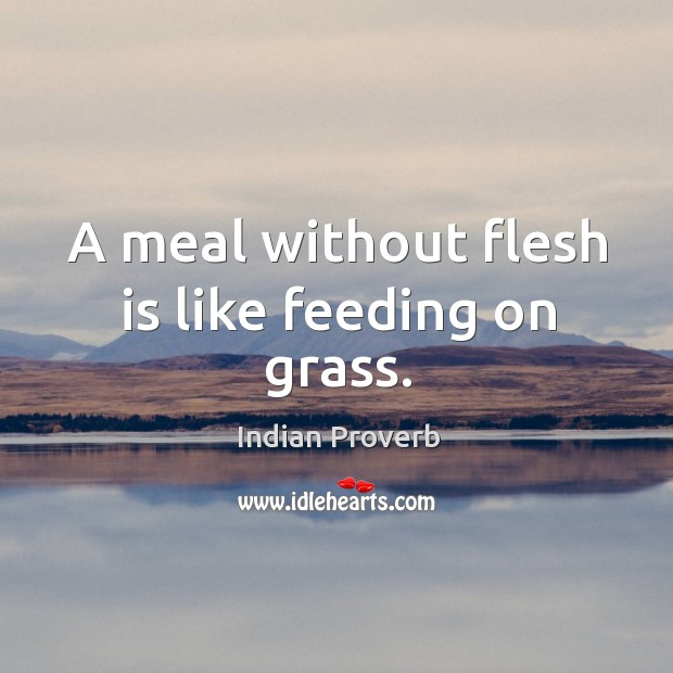 A meal without flesh is like feeding on grass. Image