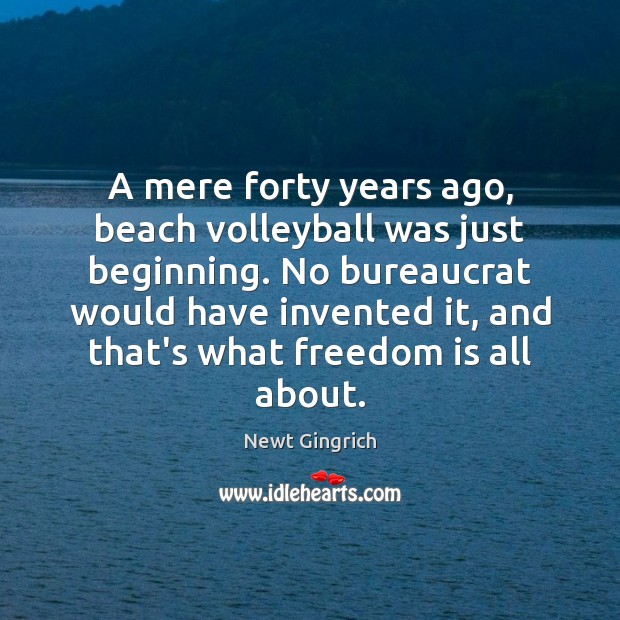 Image, A mere forty years ago, beach volleyball was just beginning. No bureaucrat