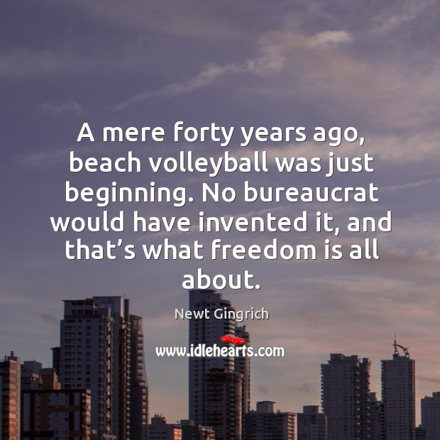 Image, A mere forty years ago, beach volleyball was just beginning. No bureaucrat would have invented it