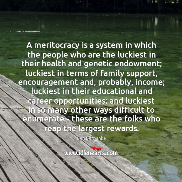 A meritocracy is a system in which the people who are the Image