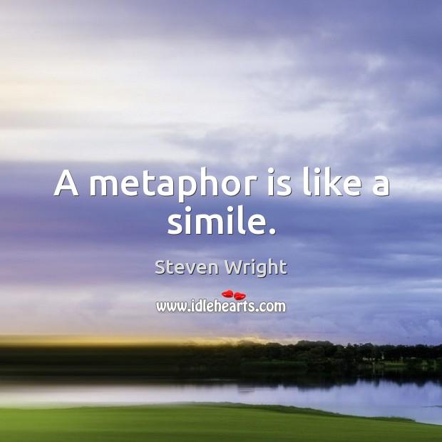 A metaphor is like a simile. Image