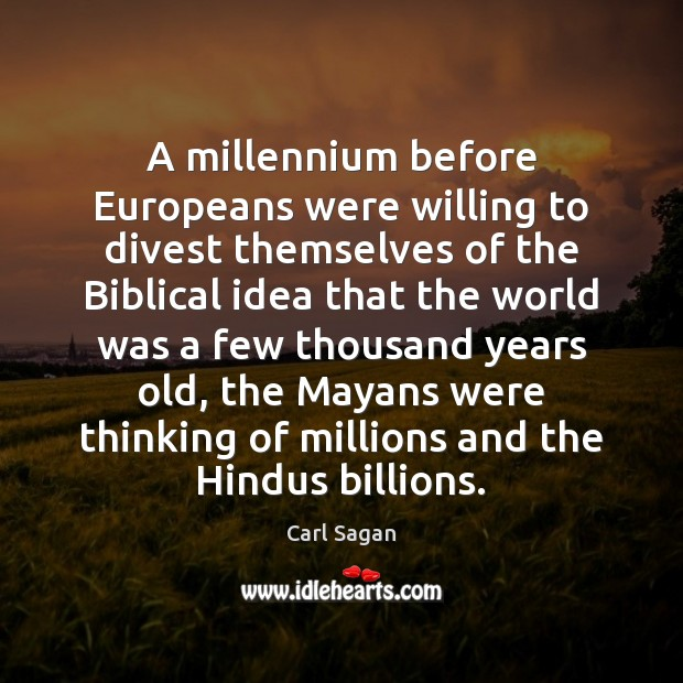 A millennium before Europeans were willing to divest themselves of the Biblical Image